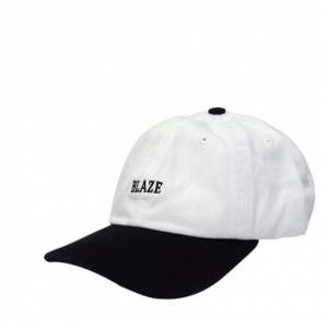 BONE BLAZE SUPPLY STRAPBACK BICOLOR WHITE