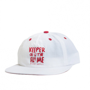 BONE BLAZE SUPPLY SNAPBACK KEEPER WHITE