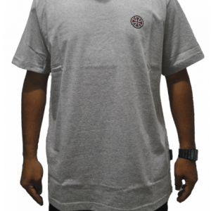 CAMISETA INDEPENDENT TRUCK CO. 4 TIER CROSS BOTTOM GREY