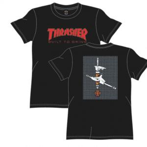 CAMISETA THRASHER MAGAZINE X INDEPENDENT TRUCK CO. THR BTG PRETA