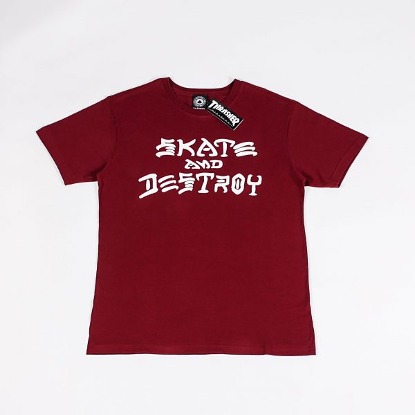 CAMISETA THRASHER SAD BORDO